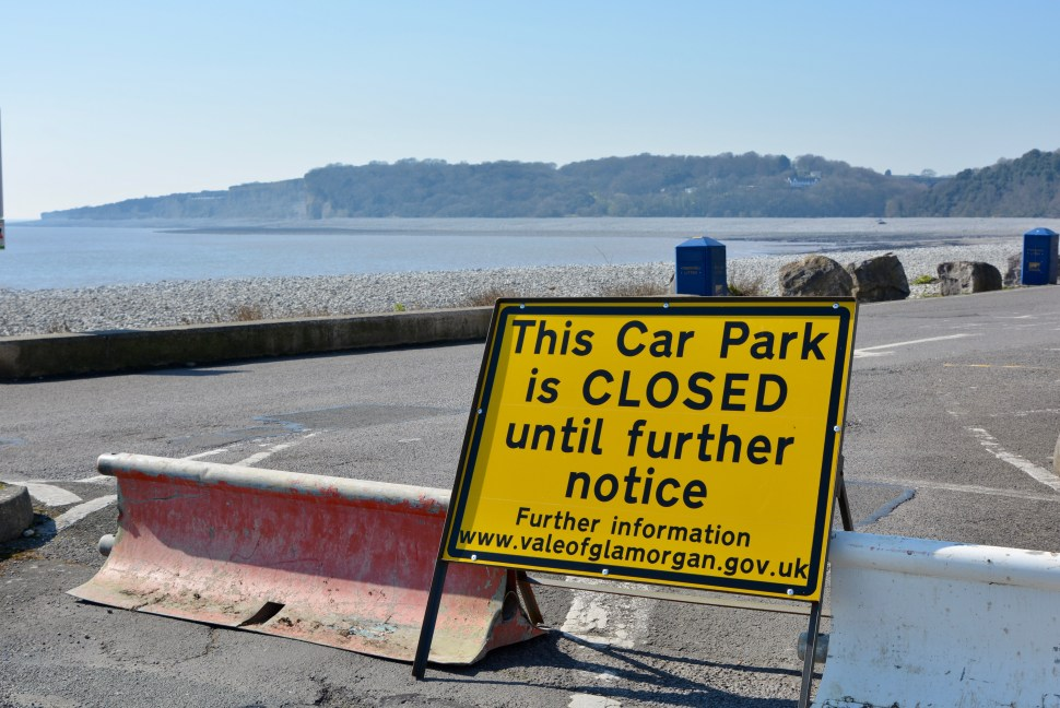 Cold Knap car parks closed during COVID 19 lockdown, Barry