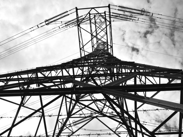 Industrial Photo Prints: Pylons at Aberthaw