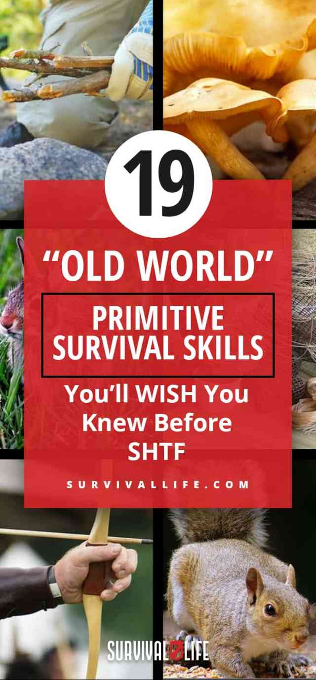 "Placard | Survival Skills | ""Old World"" Primitive Survival Skills You'll WISH You Knew Before SHTF"