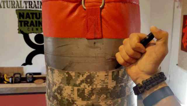 """Punchbag using write something using pens 