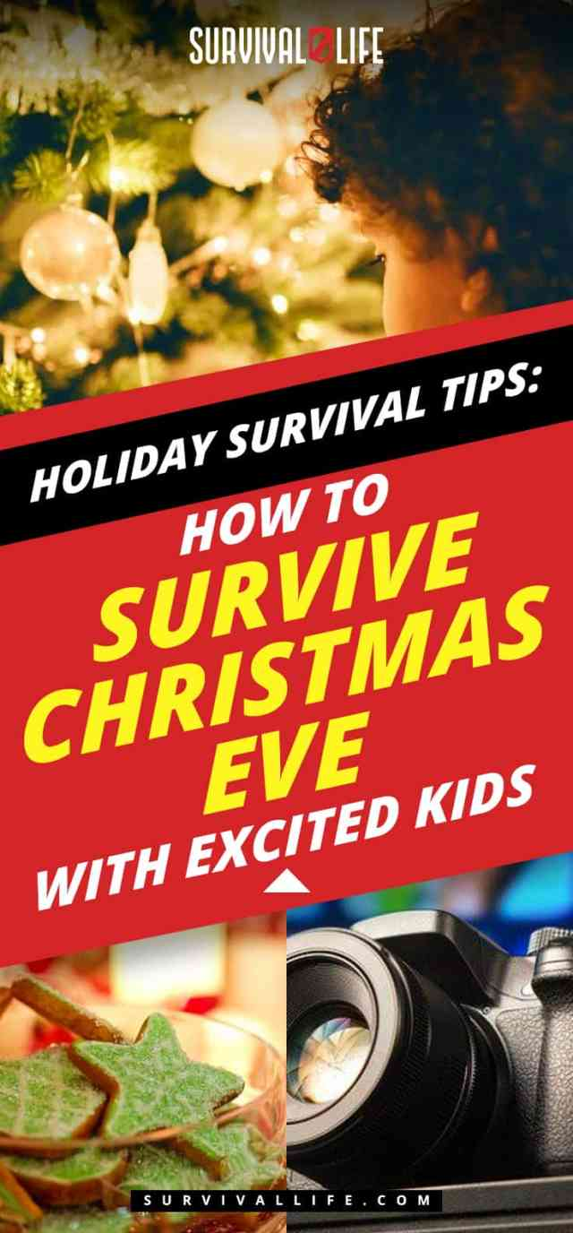 Placard | Holiday Survival Tips | How To Survive Christmas Eve With Excited Kids