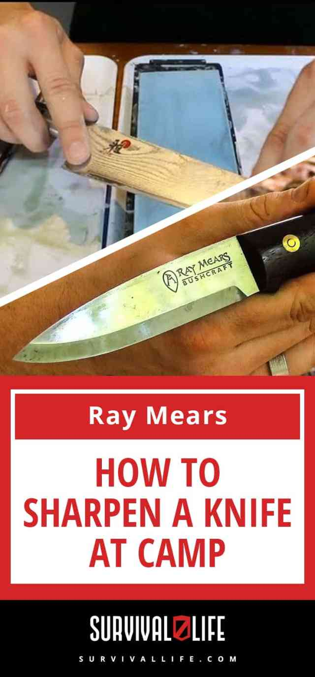 How To Sharpen A Knife At Camp [Video] | https://survivallife.com/ray-mears-how-to-sharpen-a-knife-at-camp/