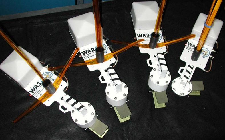 Antenna mounts for the VHF UHF antennas on the ISS