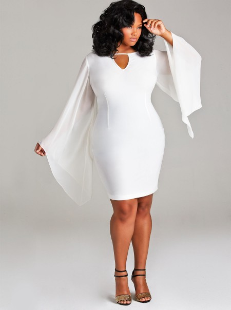 Plus size white maxi dresses with sleeves size