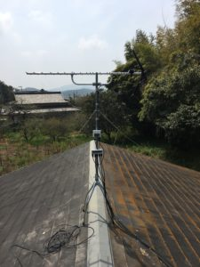 地デジはアンテナマストが低くても電波は入りやすい。 岡垣町