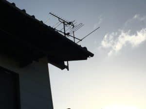台風でも折れなかった八木アンテナ