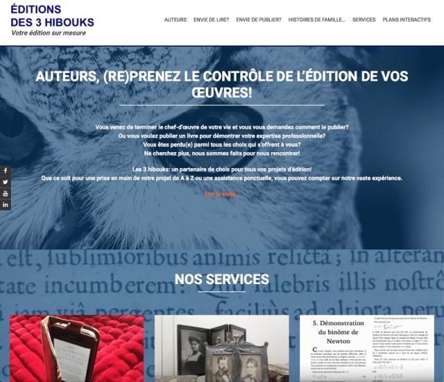 3hibouks.com, notre site dédié à l'édition numérique et papier
