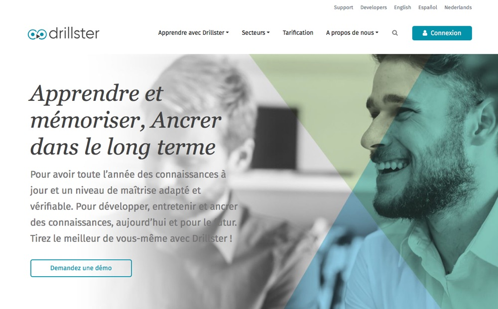 Drillster page d'accueil