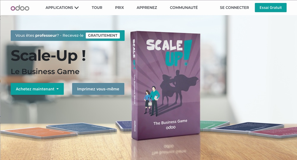 Odoo Scale-Up! page d'accueil