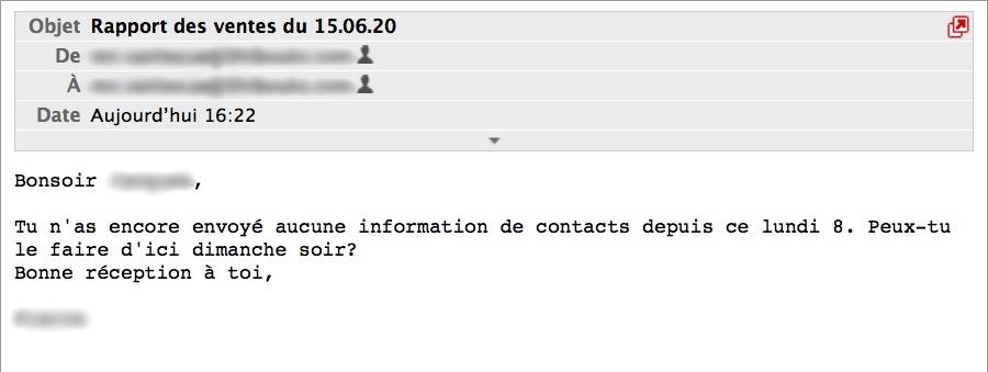 mail de rappel automatique avec Gmail