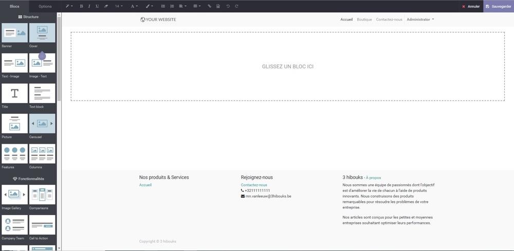 odoo création website