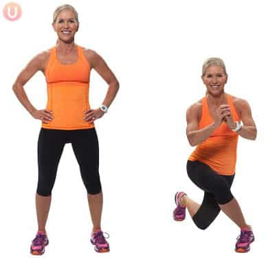 how to do cross behind lunges