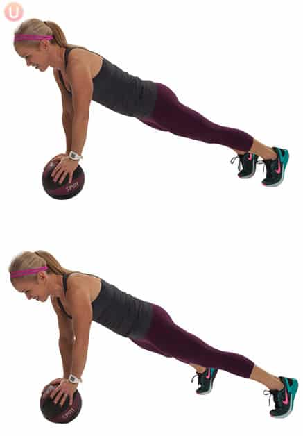 Plank Push Ups Knees