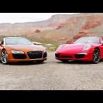 2014 Audi R8 Spyder vs 2013 Porsche 911 Carrera S Cabriolet! – Head 2 Head Episode 37