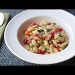Summer Vegetable Cavatelli with Fresh Corn Cream – Summer Pasta Recipe