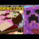 Minecraft: BURNING LOVE CREEPER (ESCAPE EXPLOSIONS AND BURNING!) Mini-Game