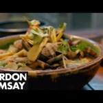 Spicy Clam Noodle Soup and Banana & Coconut Fritters – Gordon Ramsay