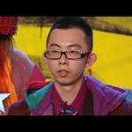 Artist Brian Chan's in fashion | Britain's Got Talent 2014