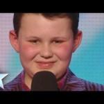 David's mini-me singer Ellis Chick swings through his audition   Britain's Got Talent 2014
