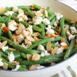 Garlic & Blue Cheese Green Bean Almondine – Baked Green Bean with Almonds Side Dish