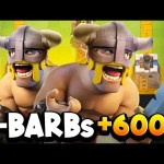 He got 6,000+ Trophies Using ELITE BARBARIANS! WHAT?!