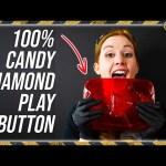 Eating a Diamond Play Button