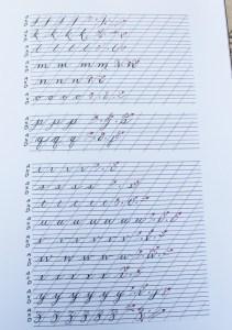 libro de caligrafía