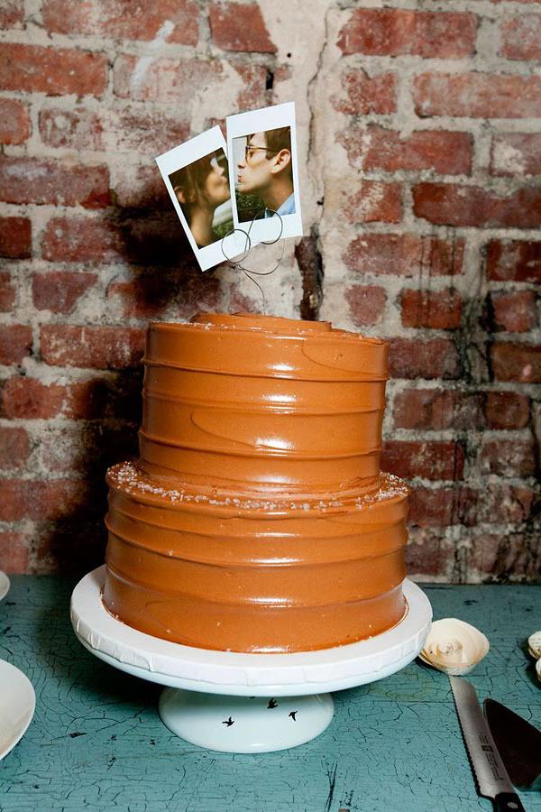 Cake topper Polaroid para tarta de boda
