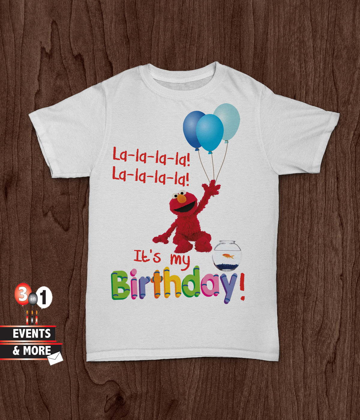 It S My Birthday Elmo T Shirt 3in1 Events More Store