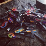 Maasai sandals in the making