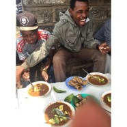 Cha Cha and Mwanda eating Ndengu with avocado