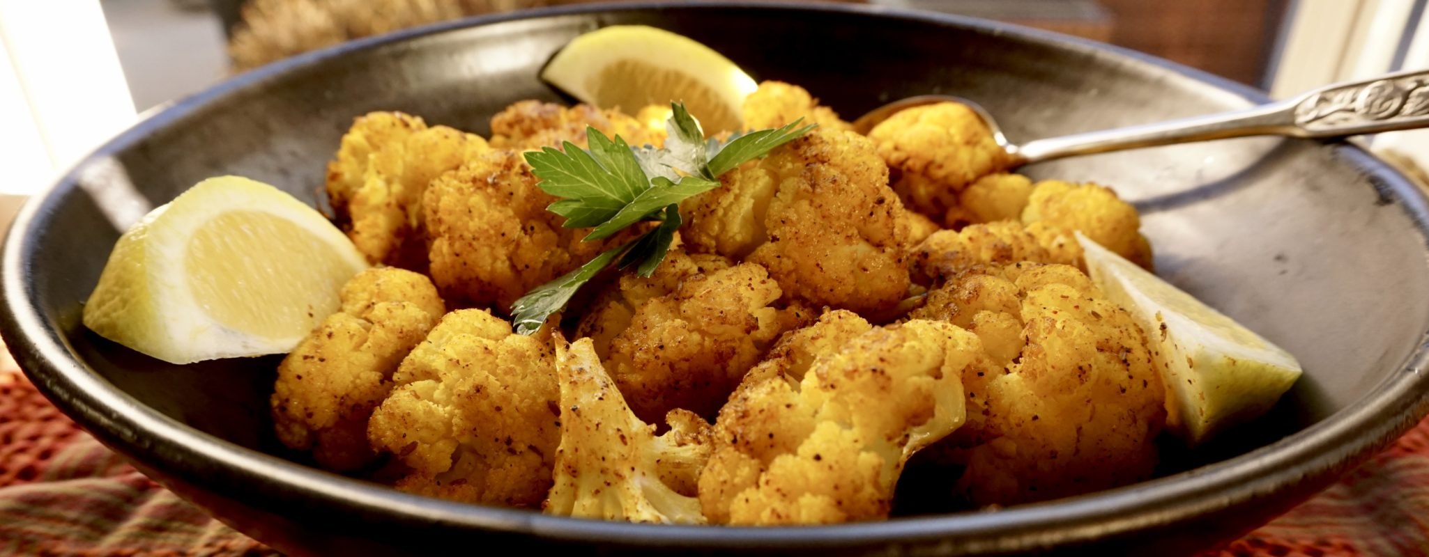 So Eat It, Just Eat it (Roasted Cauliflower with Cumin, Turmeric and Lemon)