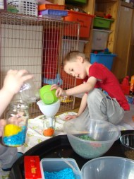 Using funnels and bowls