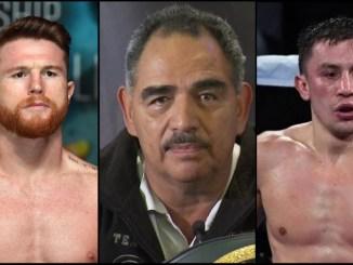 Canelo Alvarez, Abel Sanchez, Gennady Golovkin