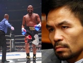 Floyd Mayweather KO Tenshin Nasukawa and Manny Pacquiao