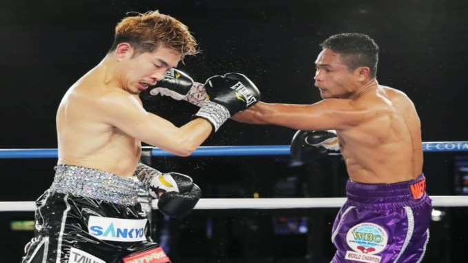 Donnie Nietes Lans a Jab on Kazuto Ioka