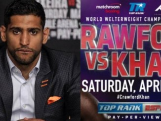 Amir Khan and Fight Banner
