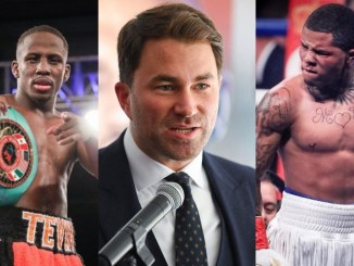 Tevin Farmer, Eddie Hearn and Gervonta Davis