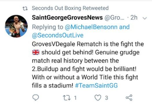 George Groves Response