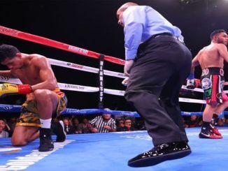 Alberto Machado Knocked Down