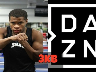 Devin Haney and DAZN Logo