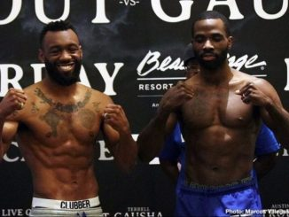 Austin Trout and Terrell Gausha (right)