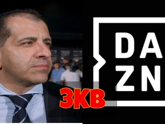 Stephen Espinoza and DAZN Logo