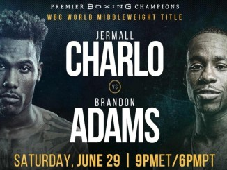 Jermall Charlo vs Brandon Adams poster