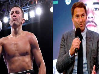 Gennady Golovkin, Eddie Hearn (right)