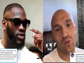 Deontay Wilder, Tyson Fury (right)