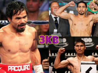 Manny Pacquiao, Danny Garcia and Mikey Garcia