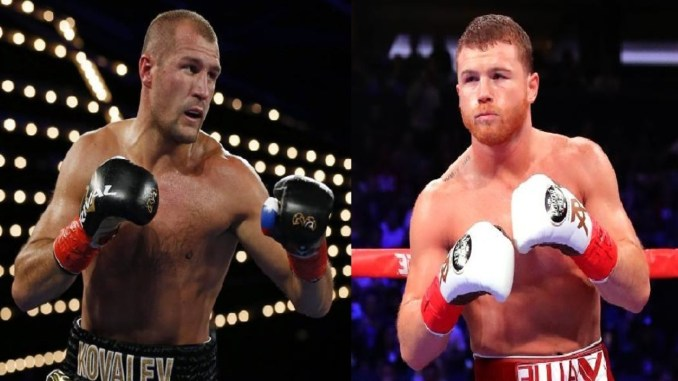 Sergey Kovalev, Canelo Alvarez (right)
