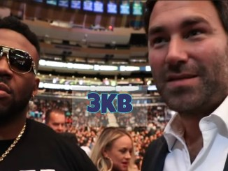Jarrell Miller and Eddie Hearn