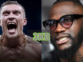 Oleksandr Usyk and Deontay Wilder